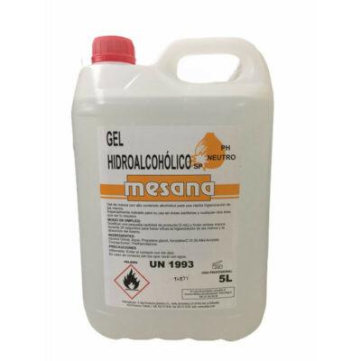 Gel hidroalcohólico Mesana, 5 litros