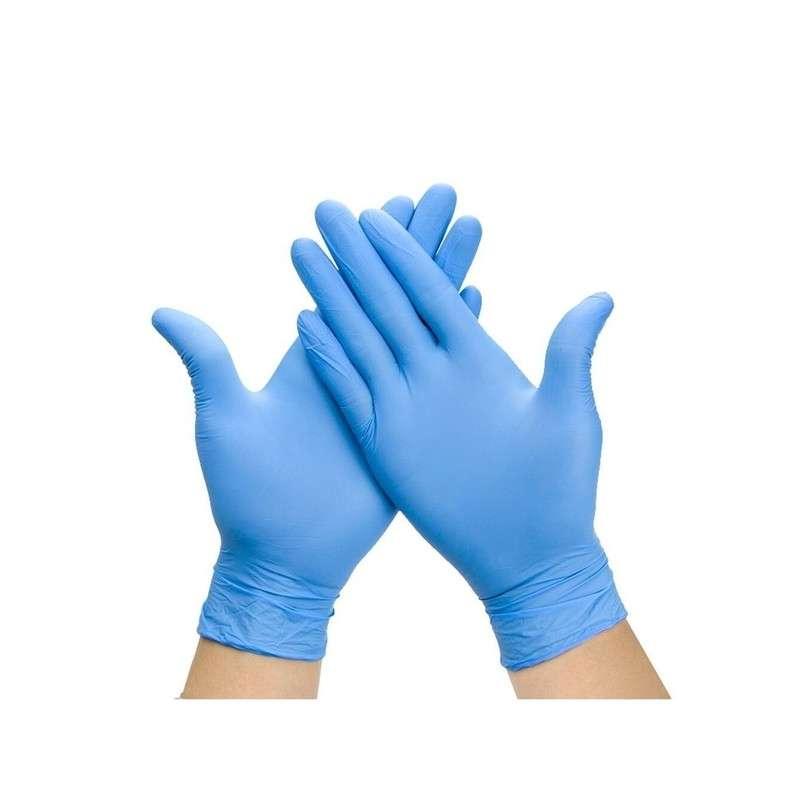 Guantes de nitrilo azul sin polvo